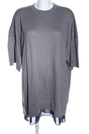 All Saints Gebreide jurk lichtgrijs casual uitstraling