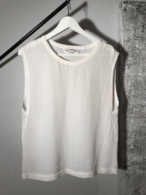 All Saints Silk Top white silk