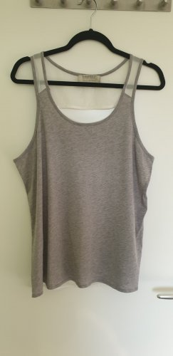 All Saints Top básico gris claro