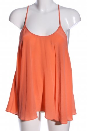 All Saints Top de tirantes naranja claro elegante