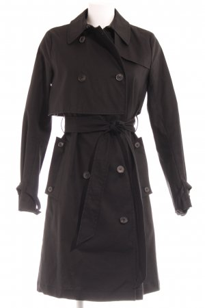 All Saints Trenchcoat zwart simpele stijl
