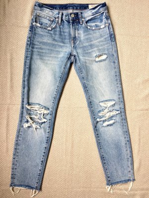 All Saints Jeans skinny bleu azur coton