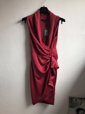 All Saints Robe portefeuille rouge framboise