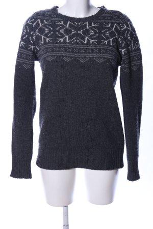 All Saints Wollen trui zwart-lichtgrijs gestippeld casual uitstraling