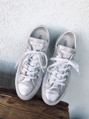 Converse Lace-Up Sneaker white-silver-colored