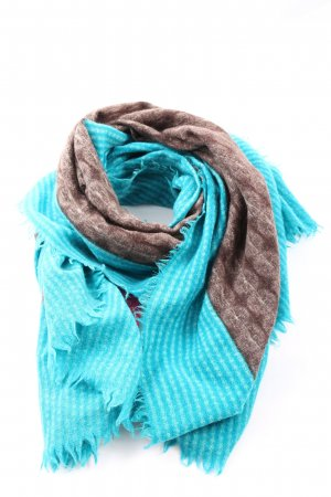 ALLEA Traditional Scarf blue-brown spot pattern casual look