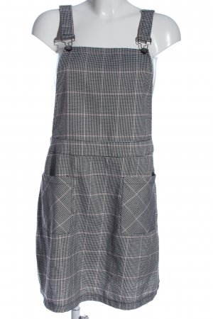Allegra K. Pinafore Overall Skirt check pattern casual look