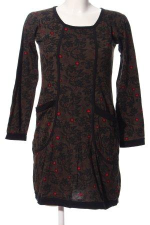 Aller Simplement Longsleeve Dress allover print casual look