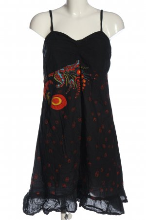 Aller Simplement Pinafore dress black-red graphic pattern casual look