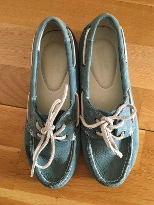 Timberland Zapatos de marinero azul celeste