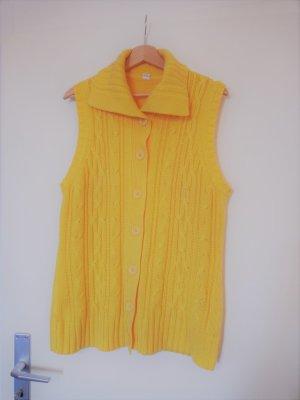 Kamizelka z dzianiny żółty Poliester