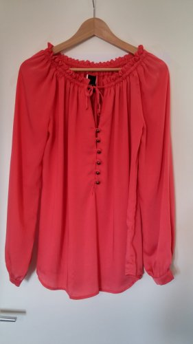 BC Blouse à manches longues saumon-rouge clair polyester