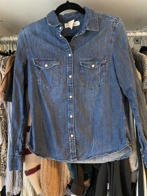 H&M L.O.G.G. Camicia denim blu scuro