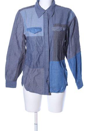 allez allez Jeansbluse blau extravaganter Stil