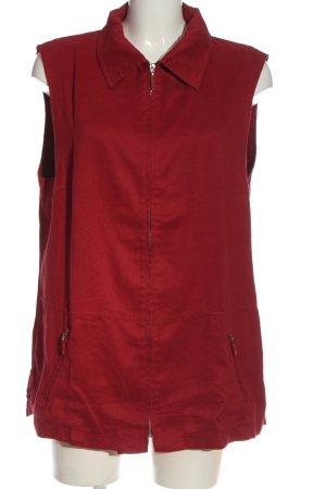Allison winGate Długa dzianinowa kamizelka czerwony W stylu casual