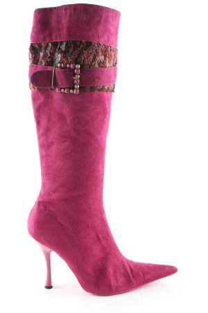 Allissa Fabiani Absatz Stiefel pink Casual-Look