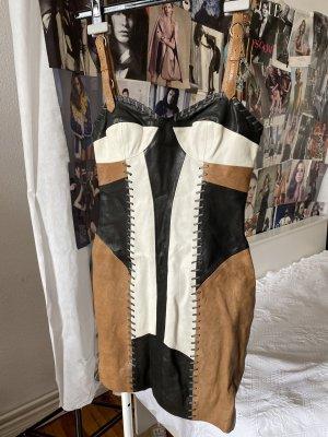 Allsaints Spitalfields Leather Dress multicolored