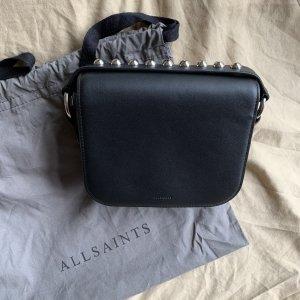 All Saints Borsa clutch nero-grigio chiaro Pelle