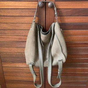 Allsaints Plecak szaro-brązowy-beżowy Skóra