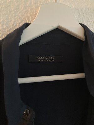 Allsaints Bluzka o kroju koszulki ciemnoniebieski