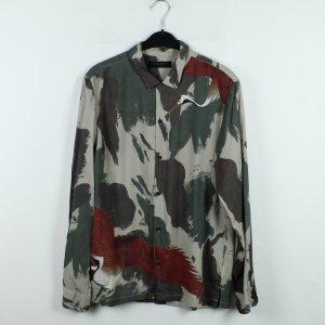 ALLSAINTS Bluse Gr. M kaki rot Camouflage gemustert (20/01/100)