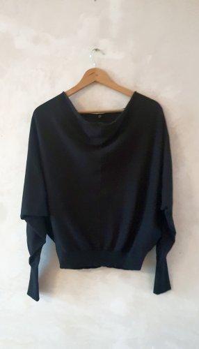 Allsaints Cienki sweter z dzianiny czarny