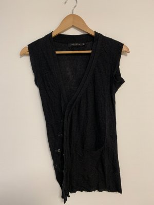 All Saints Spitalfields Long Knitted Vest anthracite
