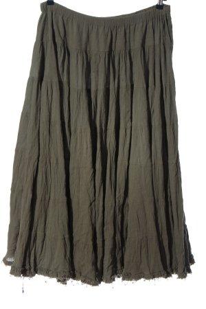 Allsaints Rozkloszowana spódnica khaki W stylu casual