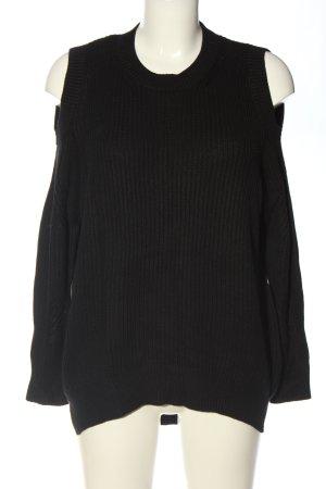 Allsaints Sweter z grubej dzianiny czarny W stylu casual