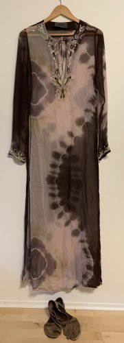 AllSaints Hippie/Boho Seidenkleid mit aufwändiger Perlenstickerei