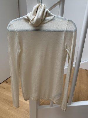 Allsaints Sweter z golfem w kolorze białej wełny