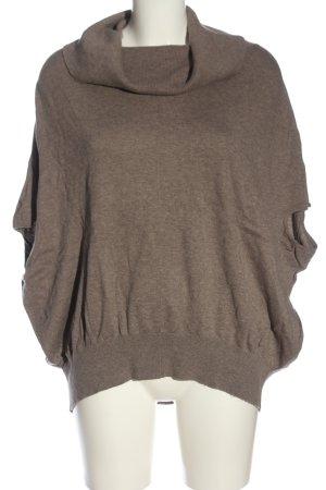 Allsaints Sweter z krótkim rękawem brązowy Melanżowy W stylu casual