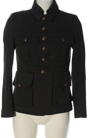 Allsaints Krótki płaszcz jasnoszary Melanżowy W stylu biznesowym