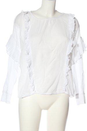 Allsaints Bluzka z długim rękawem biały W stylu casual