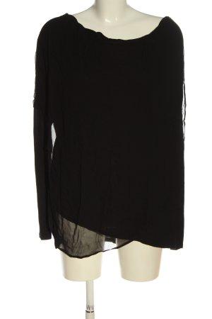 Allsaints Bluzka z długim rękawem czarny W stylu casual