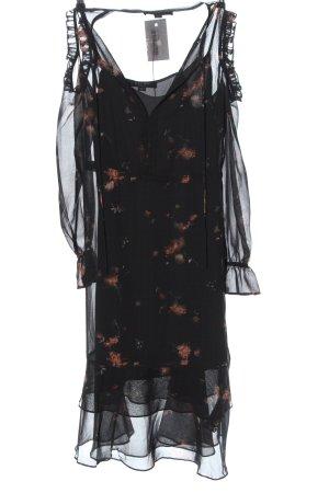 Allsaints Sukienka z długim rękawem Wzór w kwiaty W stylu casual