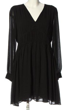 Allsaints Sukienka z długim rękawem czarny Elegancki
