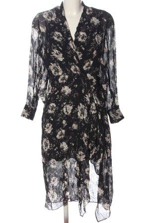 Allsaints Sukienka z długim rękawem czarny Na całej powierzchni Elegancki