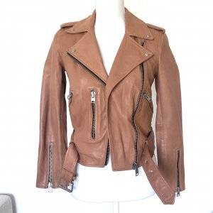 All Saints Leather Jacket multicolored