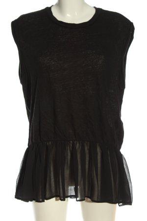 Allsaints Długa bluzka czarny W stylu casual