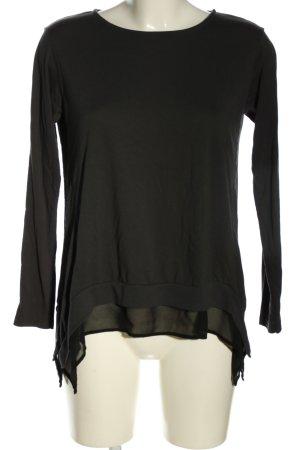 Allsaints Koszulka z długim rękawem czarny W stylu casual