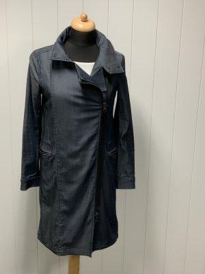 Allsaints Płaszcz przejściowy stalowy niebieski Lyocell