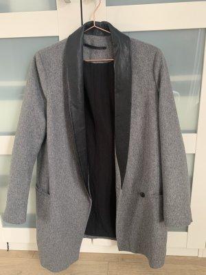 Allsaints Mantel mit Leder-Kragen