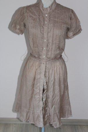 Allsaints Spitalfields Midi Dress camel-beige cotton