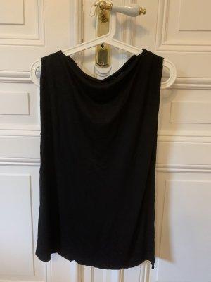 Allsaints Koszulka z dekoltem woda czarny
