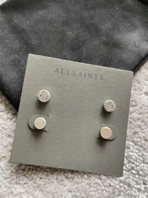 Allsaints Kolczyk ze sztyftem srebrny
