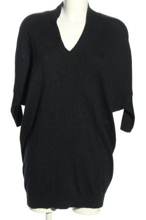 Allsaints Sweter oversize czarny W stylu casual