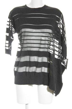 All Saints Oversized shirt zwart-donkerblauw gestreept patroon