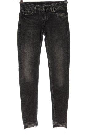 Allsaints Jeansy rurki czarny W stylu casual