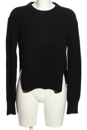 Allsaints Sweter z okrągłym dekoltem czarny Melanżowy W stylu casual